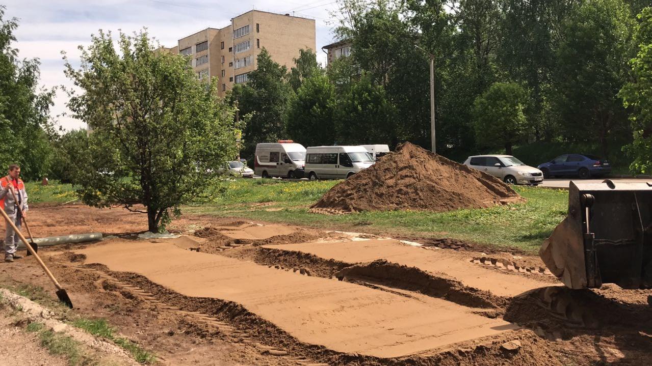 Планировка териитории под мантаж детской площадки Кольцова