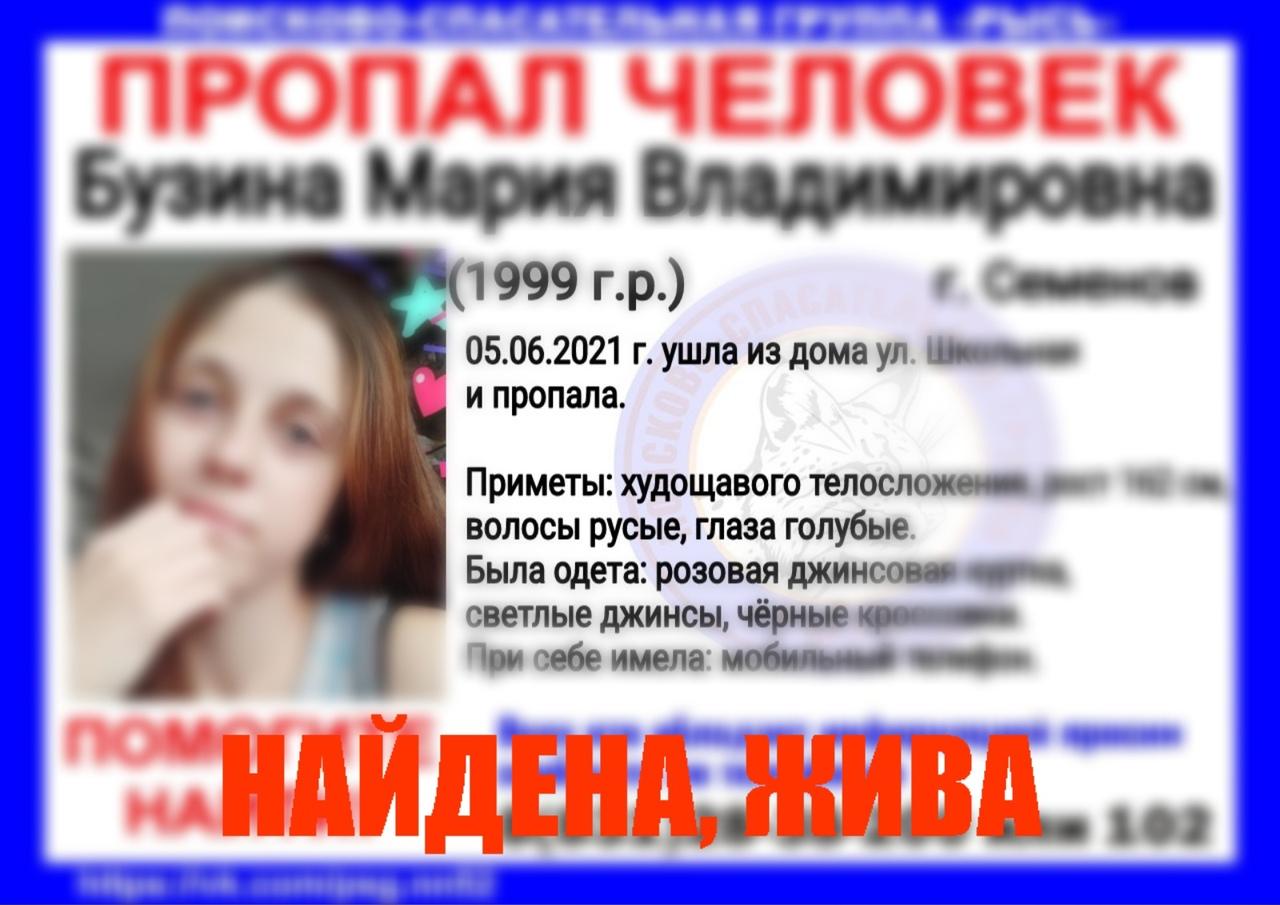 Бузина Мария Владимировна, 1999 г.р., г. Семенов