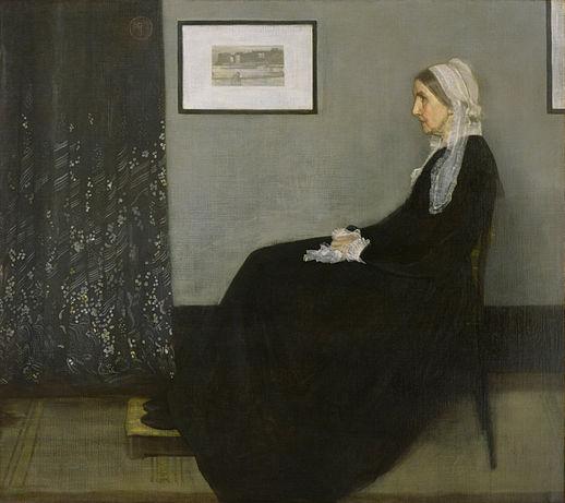 Фото 5. Джеймс Уистлер. Портрет матери художника, 1871 год
