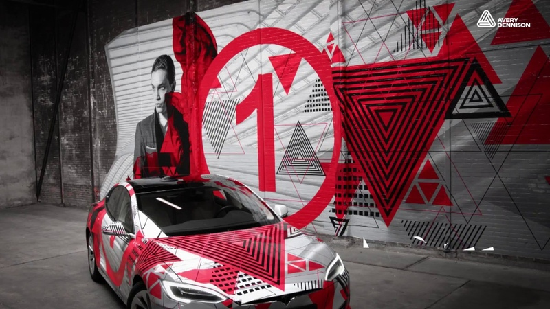 Wrap a Car and a Brick Wall with Avery Dennison MPI 1405 Wrapping Film