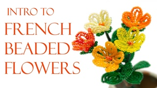 Introduction to French beaded flowers - spring blossoms pattern tutorial