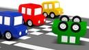 Мультики для детей 4 машинки соревнуются! Развивающие мультфильмы - Все серии подряд