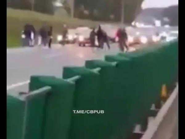В Минске заблокировали МКАД