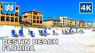 [4K] Destin Beach, Florida USA - 2021 Spring Break Walking Tour & Travel Guide 🎧 Binaural Sound
