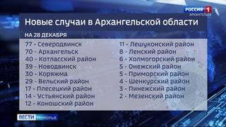 Впервые за последние недели Северодвинск в лидерах по числу заражённых коронавирусом