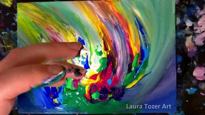 Finger Painting Artist 🌈🎨 Colorful Abstract Painting for Beginners