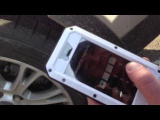 Apple iPhone 5 в чехле Lunatik против автомобиля (часть 1)