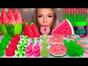 ASMR WATERMELON SHORTBREAD COOKIES, EDIBLE SOUR SLIME, MACARONS, JELLY DONUT, SOUR CANDY MUKBANG 먹방
