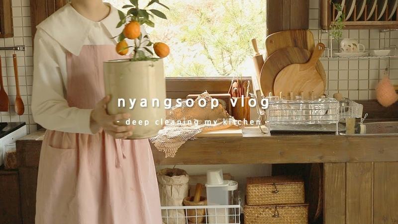 냥숲 vlog 종일 집에서 부엌 청소 맛있는 그릭요거트 만드는 집순이 일상