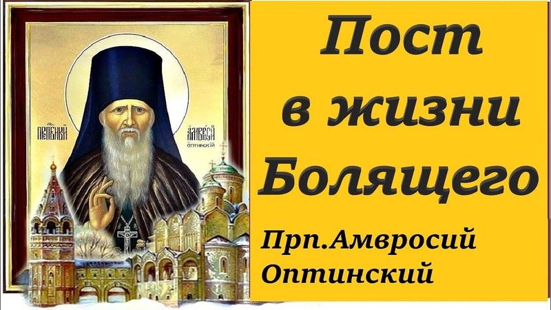 Почему мы болеем Пост в жизни болящего Прп Амвросий Оптинский