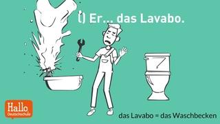 Online Deutsch lernen  / Welches Verb passt? / Test / Aussprache Training
