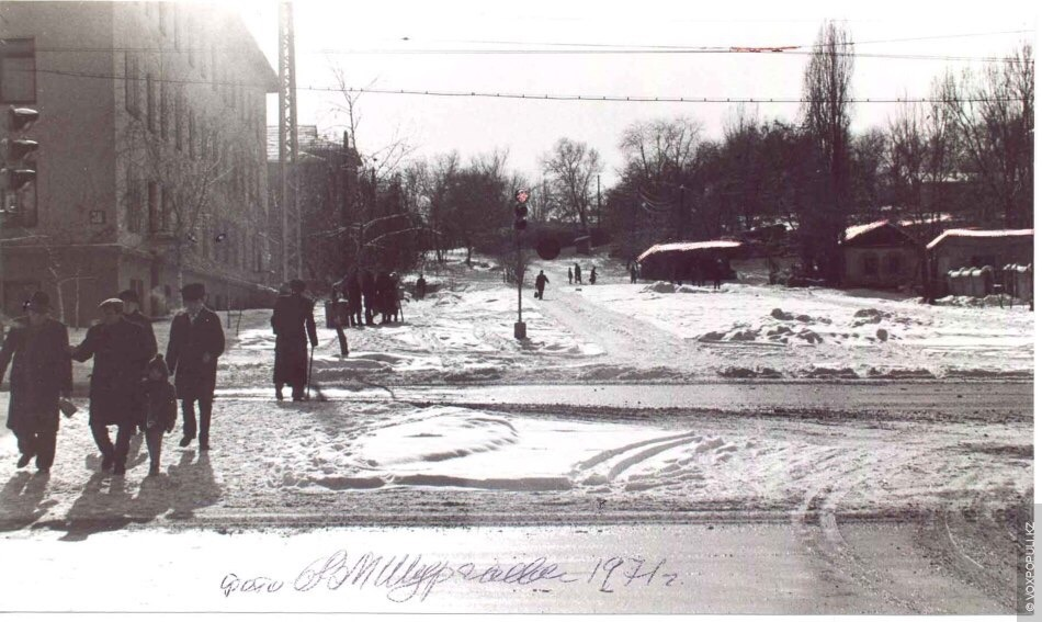 Тупик на углу Сейфуллина и Абая, 1971 год. Проспект тогда е