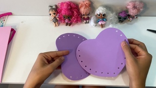 DIY how to make girls foam purse