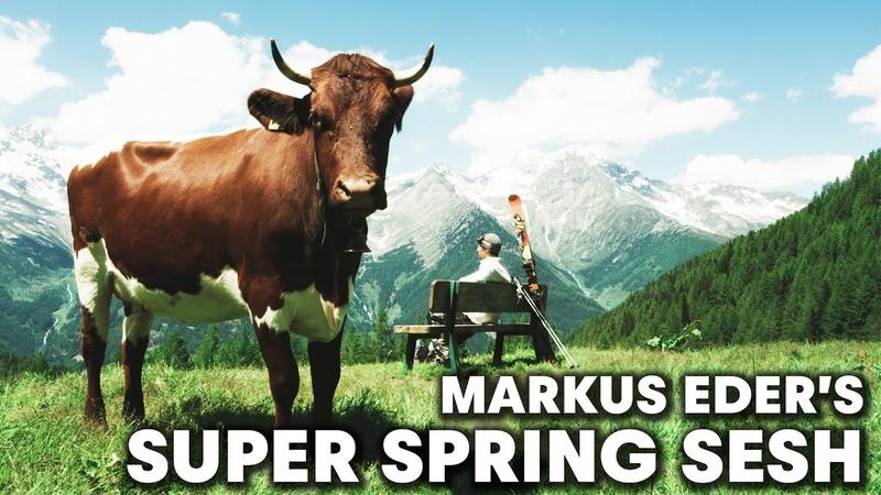 Skiing The Ultimate Spring Snowpark Markus Eder's Super Spring Sesh