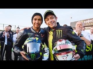 Valentino Rossi vs Lewis Hamilton | Mercedes W08 F1 vs Yamaha M1 2019 MotoGP. Il video integrale