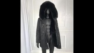 Мужская парка с капюшоном и воротником из натурального лисьего меха, зимняя верхняя одежда высокого качества, 2021