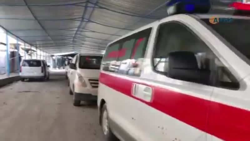Курдский Красный Полумесяц Хейва Сор курдские машины скорой помощи находятся в г. Серекания