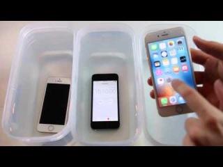 iPhone SE против 5S против 6S - Тест на защиту от Воды
