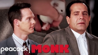 Randy Hides a Mouse in Monk's Pocket   Monk