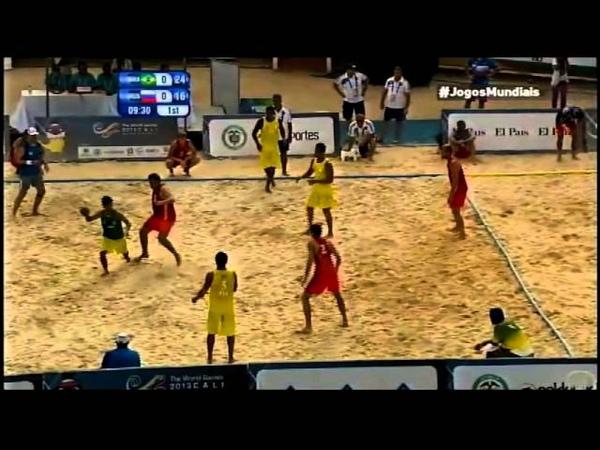 Handebol de Areia Beach Handball BRA x RUS World Games 2013 Final TV Esporte Interativo