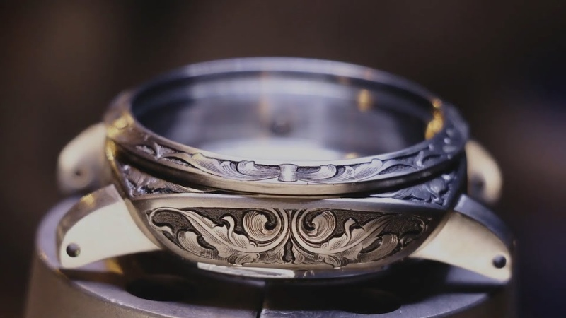 Restoring and hand engraving Panerai wristwatch