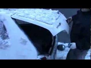 Как освободить машину от льда - польский метод How to De-Ice Your Car -- The Polish Style