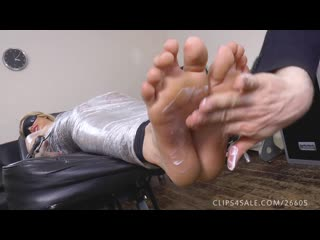 Porchia s mummified foot tickle-torture.