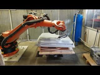 Фрезерная резка роботом Kuka