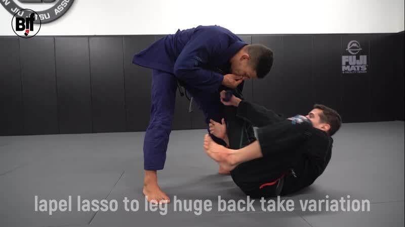 Caio Terra - lapel lasso to leg huge back take variation