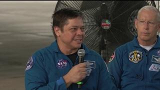 Demo-2 Astronauts Behnken and Hurley Return to Houston at Ellington Field