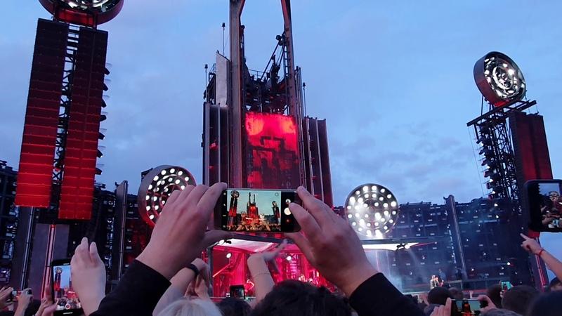 Rammstein live in Rīga 06.08.19 Mein herz brenn